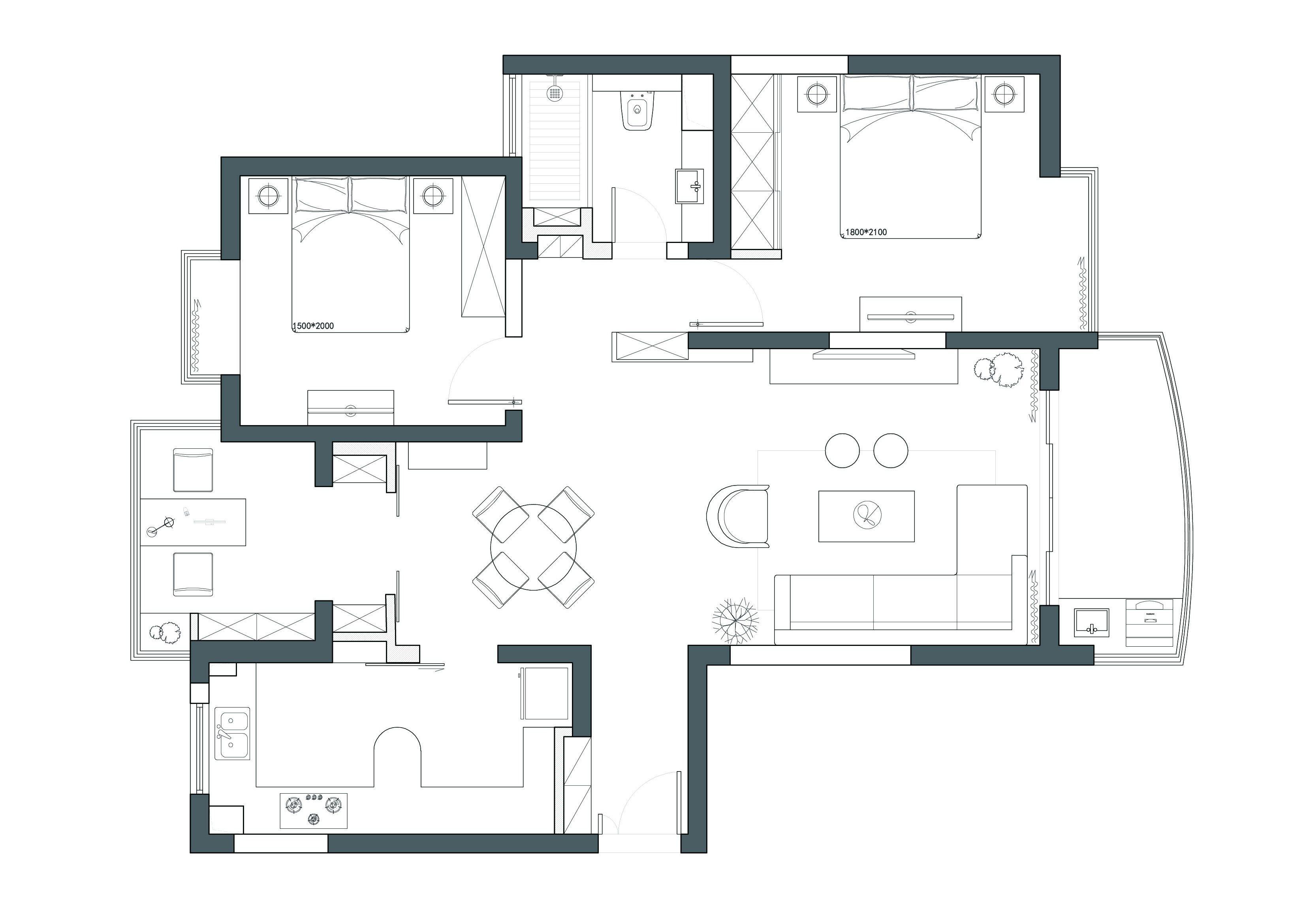 顾锋526次公寓设计 净·境  ;  如若说爱情里有一见钟情的火花